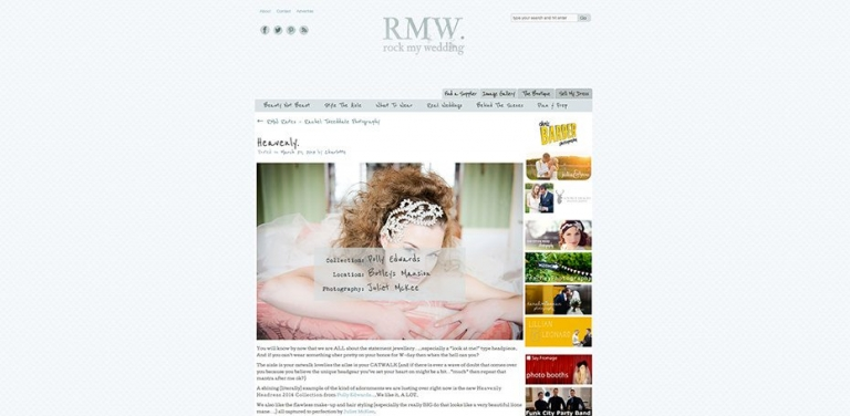 Featured ~ Rock My Wedding (Polly Edwards 2014 Collection at Botleys Mansion, Surrey) 1