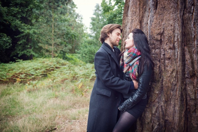 Carolanne & Luke ~ Woodland Engagement Shoot 5