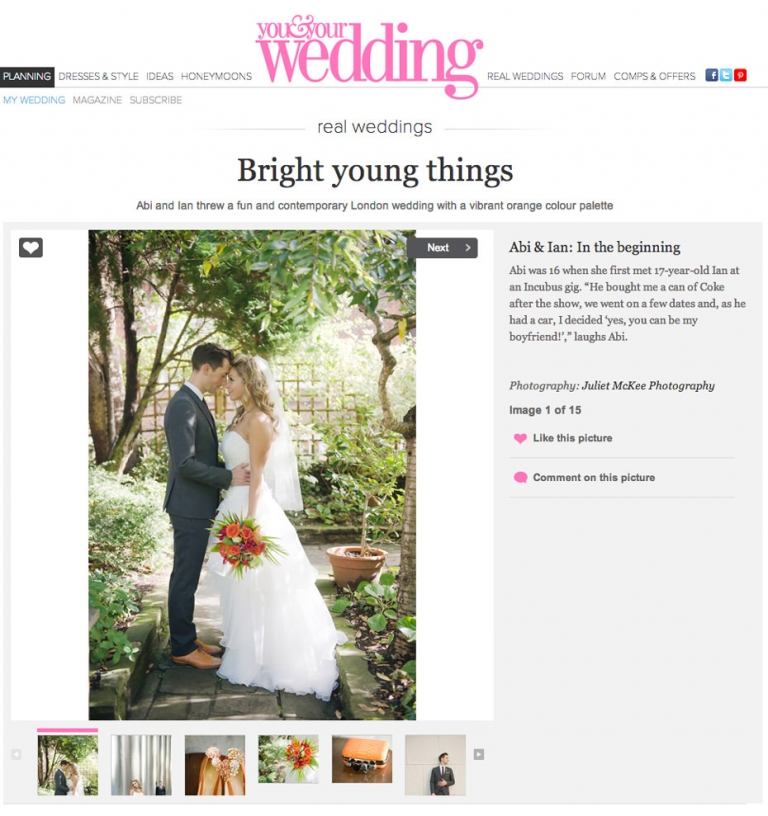 Featured ~ You And Your Wedding 1
