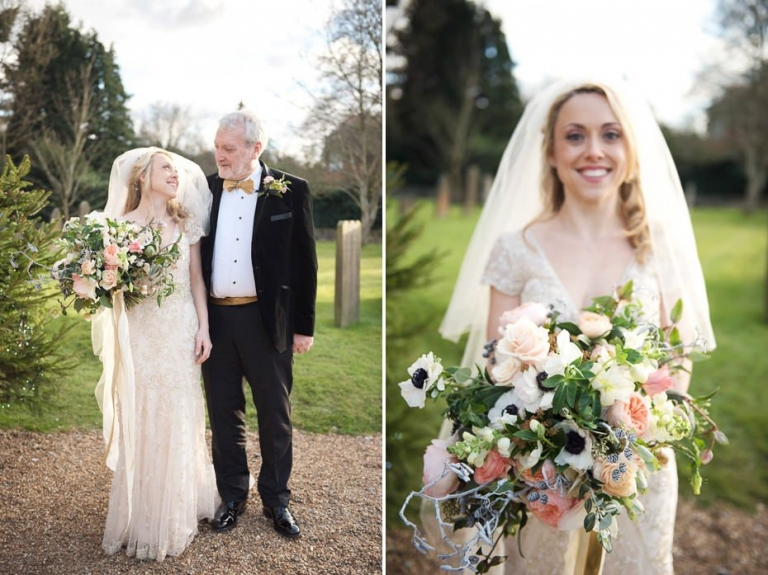 Mickleham Church Winter wedding