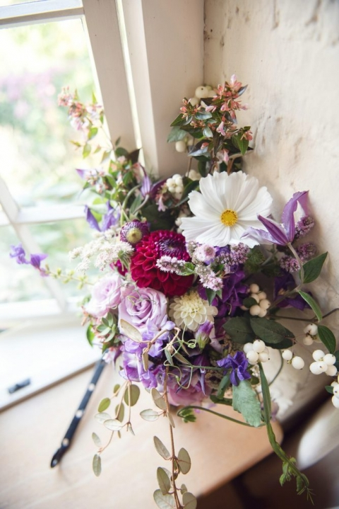 Martin And The Magpie wedding flowers
