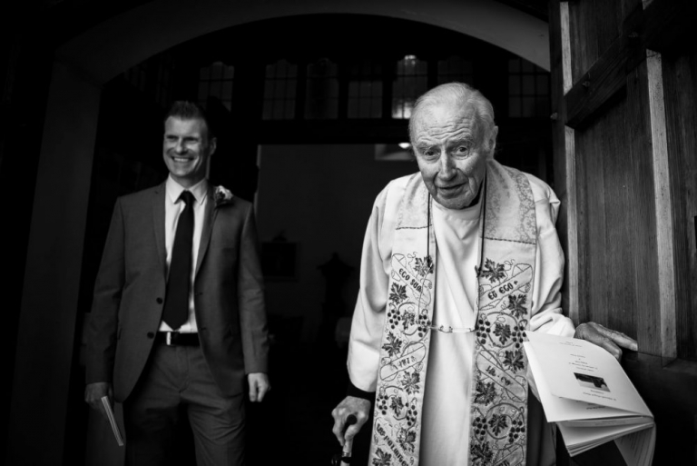 Father Michael - meaningful wedding photography