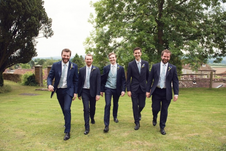 The grooms and his groomsmen