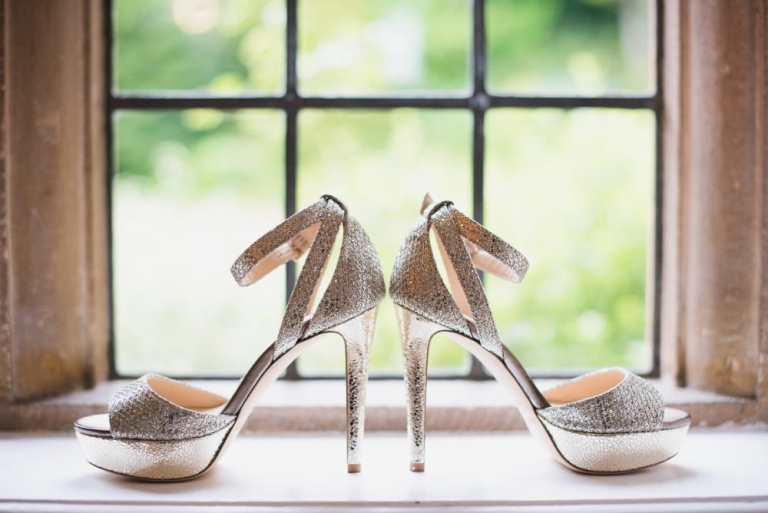 Jimmy Choo bridal shoes in Champagne