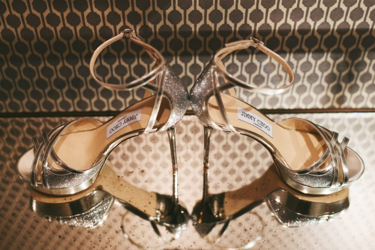 Jimmy Choo for a luxury wedding in LOndon