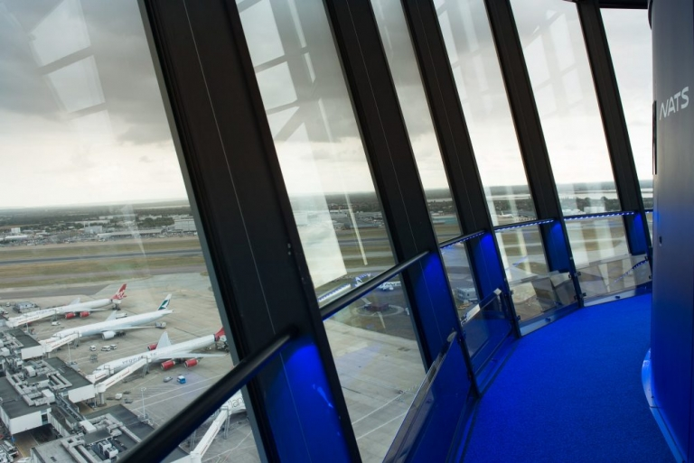 Inside Heathrow Airport Air Traffic Control Tower