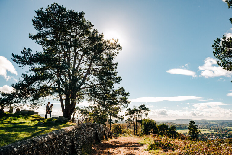 St Marthas Hill wedding photography