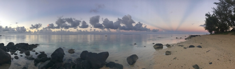 Anticrepuscular Ray over the Indian Ocean Mauritus