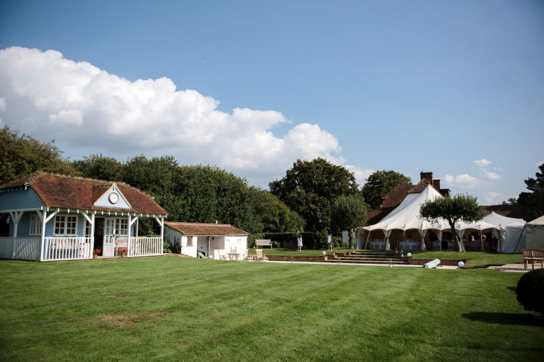 marquee wedding in the family home
