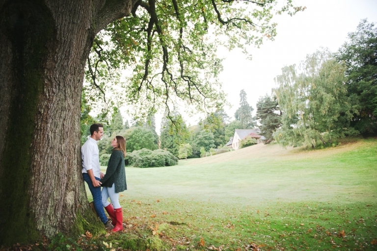 An engagement photography shoot at Pennyhill Park Hotel.