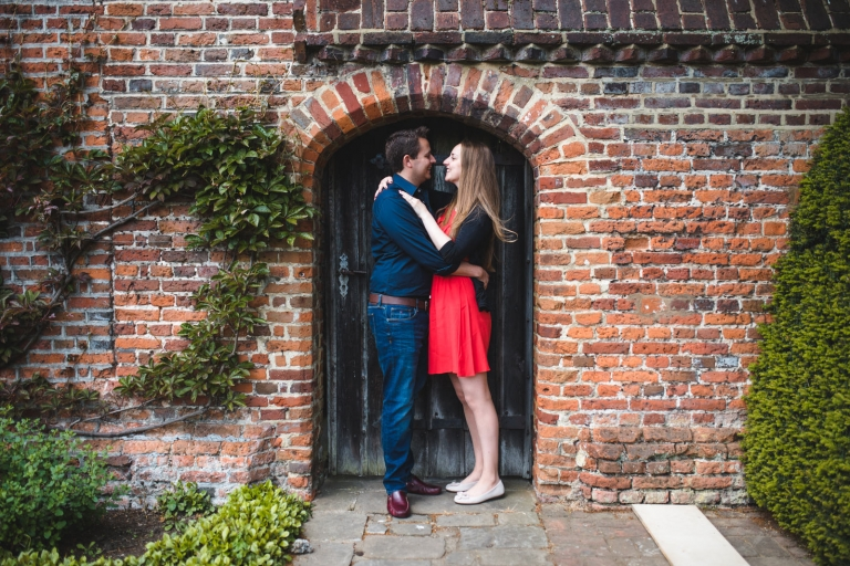 Engagement shoot at Great Fosters wedding venue in Surrey.