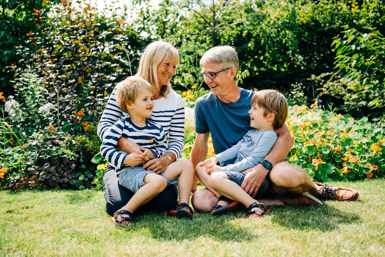 Camberley Surrey relaxed family photography for parents and grandparens.