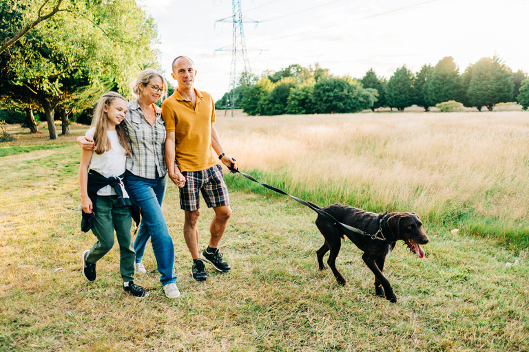 A Sunset Family Lifestyle Shoot With Hector The Dog & Family 3